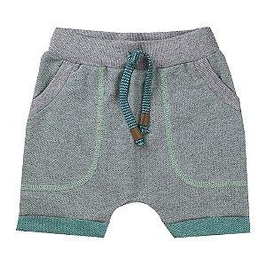 Bermuda Infantil Masculina Saruel Moletinho Verde - Tileesul