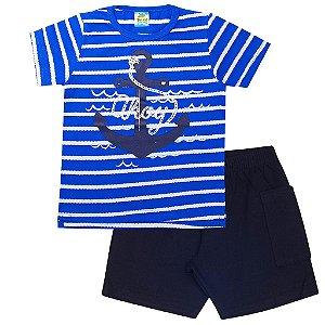 Conjunto Infantil Masculino Ahoy Listra Azul - Tileesul