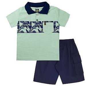 Conjunto Infantil Masculino Polo Verde - Tileesul