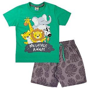 Conjunto Infantil Masculino Safari Verde - Tileesul