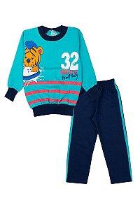 Conjunto Infantil Masculino Leãozinho Azul - Isensee