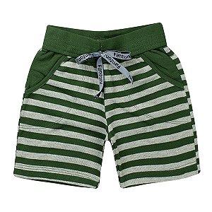 Bermuda Infantil Masculina Listrada Verde - Fantoni