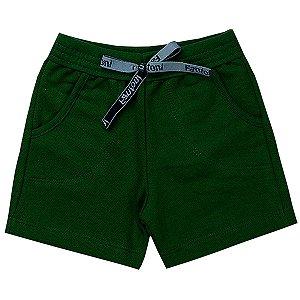 Bermuda Infantil Masculina Moletinho Verde - Fantoni