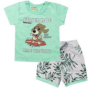 Conjunto Infantil Masculino Dog Verde - Fantoni