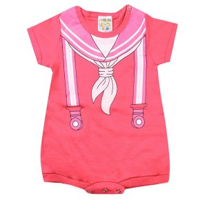 Macaquinho Infantil Masculino Bebê Pink - Fantoni
