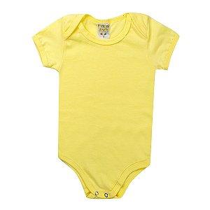 Body e Babador Infantil Unissex Bebê Amarelo - Fantoni