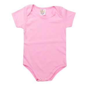 Body e Babador Infantil Feminino Bebê Pink - Fantoni