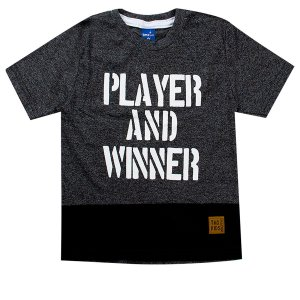Camiseta Infantil Masculina Player Cinza - TMX