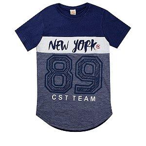 Camiseta Infantil Masculina New York Marinho - Costão