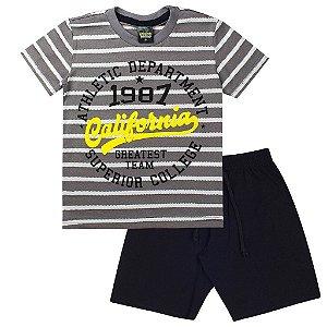 Conjunto Infantil Masculino California Cinza - Tileesul