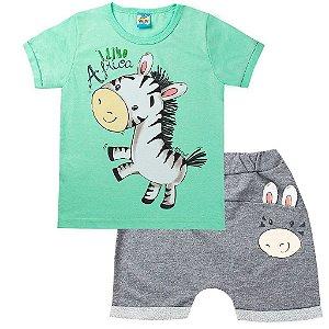 Conjunto Infantil Masculino Zebra Verde- Tileesul