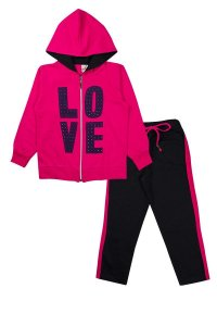 Conjunto Infantil Menina love Pink - Isensee