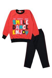Conjunto Infantil Menina Smile Dance Salmão - Isensee
