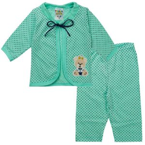 Conjunto Body Bebê Masculino Verde - Fantoni