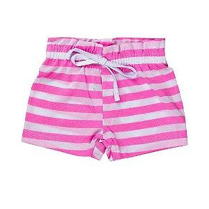 Shorts Fru - Fru infantil Menina De Malha Rosa - Fantoni