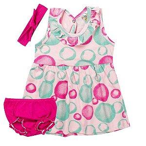 Conjunto Infantil Feminino Contendo 3 Peças Pink - Fantoni