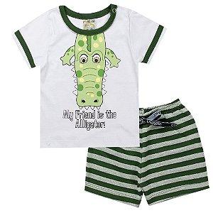 Conjunto Infantil Masculino Jacaré Verde - Fantoni