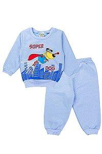 Conjunto Moletom Infantil Menino Tradicional Azul Fantoni