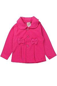 Casaco Infantil Menina Soft Com Gola Pink Fantoni
