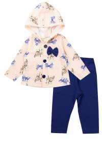 Conjunto Moletom Infantil Menina Soft Rosa Fantoni
