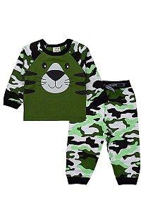 Conjunto Infantil Masculino Camuflado Verde - Fantoni