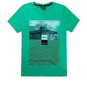 Camiseta Infantil Masculina Surf Verde - TMX