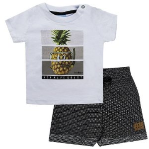 Conjunto Infantil Masculino Abacaxi Branco - TMX