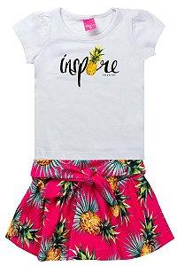 Conjunto Infantil Feminino Inspire Branco - TMX
