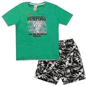 Conjunto Infantil Masculino California Verde Costão Mini