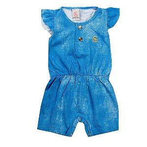 Macaquinho Infantil Feminino Azul - Costão Mini