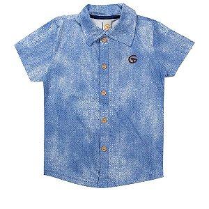 Camisa Infantil Gola Pólo Masculina Azul - Costão Mini
