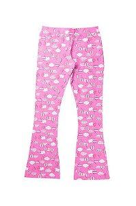 Calça Legging Infantil Menina Estampa Rotativa Rosa