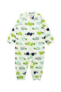 Macaquinho Bebê Menino Com Zíper Soft Verde - Isensee
