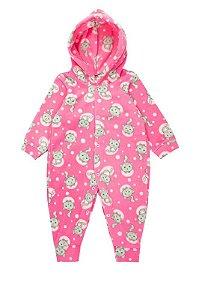 Macaquinho Bebê Menina Soft Estampado Rosa - Isensee
