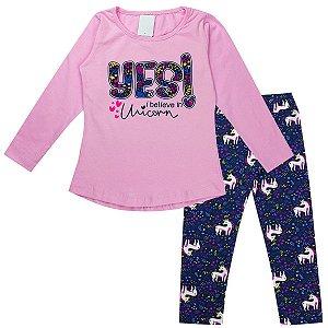 Kit 5 Conjuntos Femininos Roupa Infantil Menina Cotton