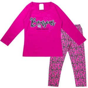 Conjunto Infantil Feminino Bonjour Pink Analê