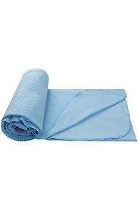 Manta Coberta Para Bebê Soft Com Detalhes Azul