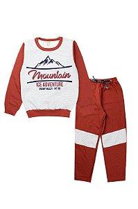Conjunto Moletom Infantil Masculino Mountain Mescla Fantoni