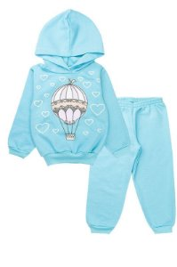 Conjunto de Moletom Infantil Menina Tradicional Azul Fantoni