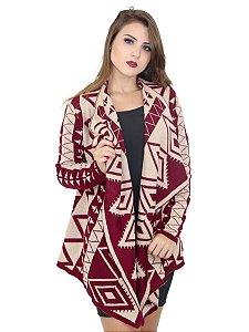 Blusa quimono cardigan de tricot