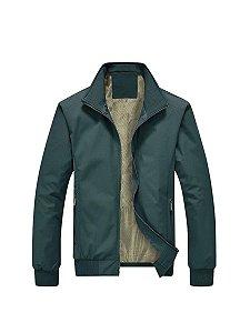 Jaqueta masculina leve quente com forro respirável