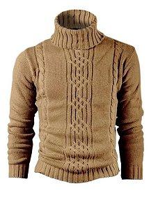 Cacharrel casaco blusa tricot lã masculina canelada