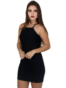 Vestido tubinho curto sem mangas