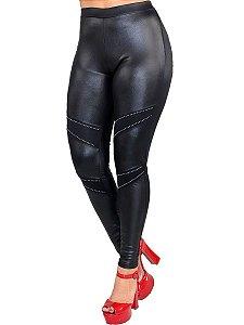 Calça feminina cirrê com pedrinhas strass