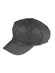 Boina gorro chapéu cap feminina de couro com forro