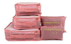 Organizador de mala bolsa kit 6 peças para viagem