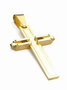 Pingente Cruz Banhado A Ouro