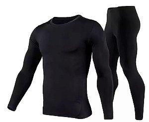 Conjunto calça + blusa térmica flanelada soft