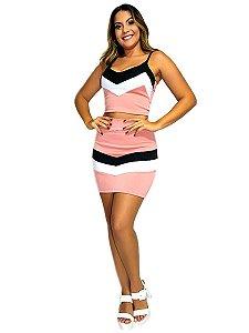 Conjunto feminino saia e cropped 3d formato M