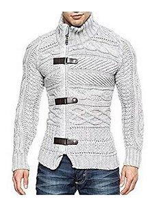 Cardigan imperador masculino trend coat e couro